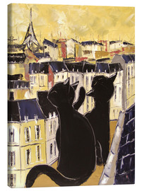 Lienzo  Cats on the rooftops of Paris - JIEL