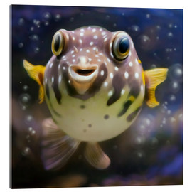 Cuadro de metacrilato  fugu the bowlfish - Photoplace Creative
