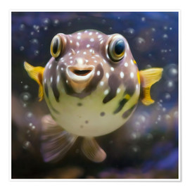 Póster  fugu the bowlfish - Photoplace Creative
