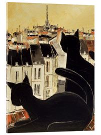 Metacrilato  Black cats on Parisian roof - JIEL