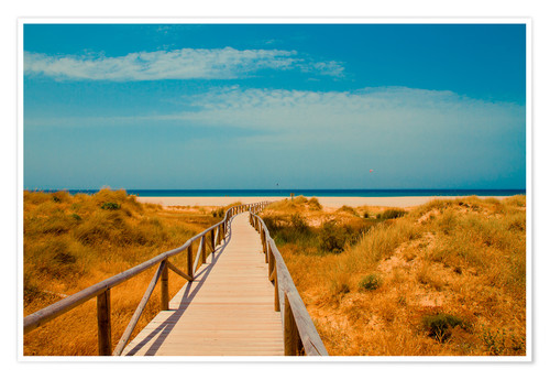Póster way to the beach - Tarifa (Andalusia), Spain