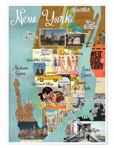 Póster New York Collage