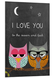 Forex  Owls -  I love you to the moon and back - GreenNest