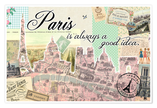 Póster Paris is always a good idea