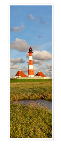 Póster Lighthouse Westerheversand