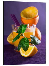 Cuadro de aluminio  Orange juice in a glass - Edith Albuschat