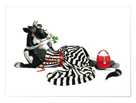 Póster glamour cow 2