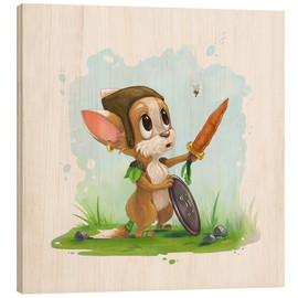 Madera  Mouse fox with bee Fairy-tale illustration gift idea nursery - Alexandra Knickel