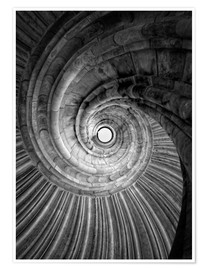 Póster Spiral staircase