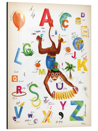 Cuadro de aluminio  ABC Alphabet animals, colours and more - Heike Udes