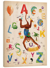 Cuadro de madera  ABC Alphabet animals, colours and more - Heike Udes