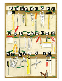 Póster ABC Alphabet Tools