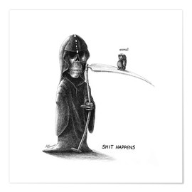 Póster Shit Happens - Death and Little Fogey