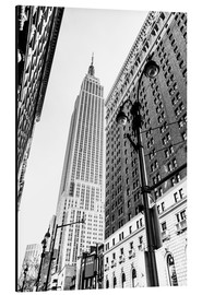 Cuadro de aluminio  New York City - Empire State Building (monochrome) - Sascha Kilmer