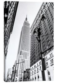 Lienzo  New York City - Empire State Building (monochrome) - Sascha Kilmer