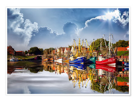 Póster Greetsiel port