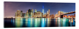 Cuadro de metacrilato  New York City Skyline, panoramic view - Sascha Kilmer