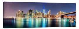 Lienzo  New York City Skyline, panoramic view - Sascha Kilmer