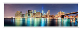 Póster New York City Skyline, panoramic view