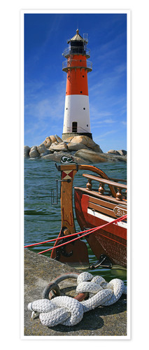Póster The Lighthouse In The Harbor