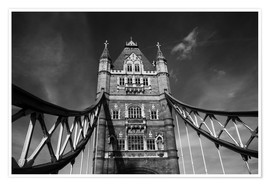 Póster London Tower Bridge monochrome