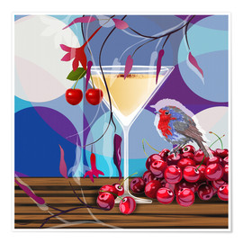 Póster  Vintage Birdy Cocktail IV - Mandy Reinmuth