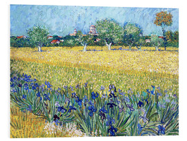 Forex  Arles with Irises flowers in the foreground - Vincent van Gogh