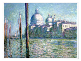 Póster  El Grand Canal - Claude Monet