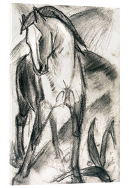 Metacrilato  Young Horse in Mountain Landscape - Franz Marc