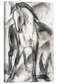 Lienzo  Young Horse in Mountain Landscape - Franz Marc