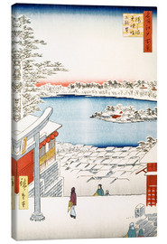 Lienzo  View from the hill of the shrine Yushima Tenjin - Utagawa Hiroshige