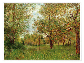 Póster  Small Meadow in By - Alfred Sisley