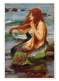 Póster  Una sirena - John William Waterhouse