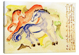 Lienzo  Red and Blue Horses - Franz Marc
