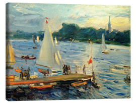 Lienzo  Sailboats on the Alster Lake in the evening - Max Slevogt