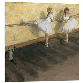 Cuadro de PVC  Dancers at the ballet bar - Edgar Degas
