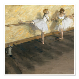 Póster Dancers at the ballet bar