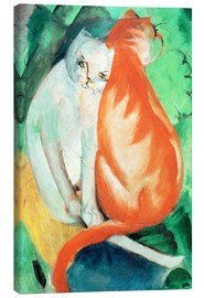 Lienzo  Cats, red and white - Franz Marc