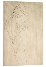 Madera  Lovers, lying to the right - Gustav Klimt