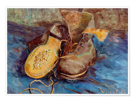 Póster  The Shoes - Vincent van Gogh