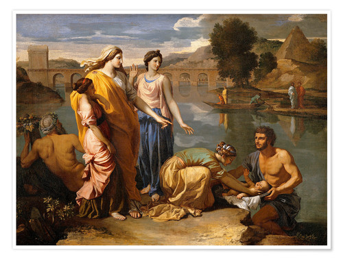 Póster Discovery of the Moses baby