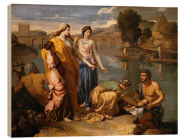 Cuadro de madera  Discovery of the Moses baby - Nicolas Poussin