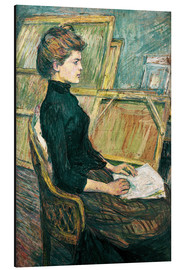 Cuadro de aluminio  Young woman in the studio - Henri de Toulouse-Lautrec