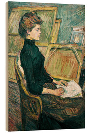 Cuadro de madera  Young woman in the studio - Henri de Toulouse-Lautrec