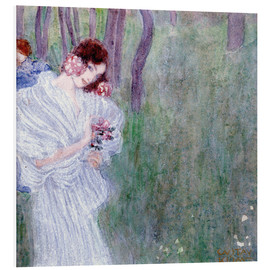 Forex  Girl with flowers at the edge of a forest - Gustav Klimt