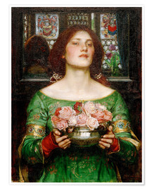 Póster  Capullos de rosa recogidos en mayo - John William Waterhouse
