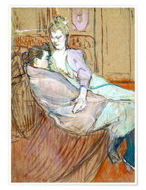 Póster  The two friends - Henri de Toulouse-Lautrec