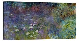 Lienzo  Les Nympheas - Claude Monet
