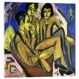 Cuadro de metacrilato  Group of artists, a conversation among artists - Ernst Ludwig Kirchner