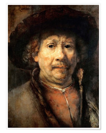 Póster Rembrandt, the small self-portrait